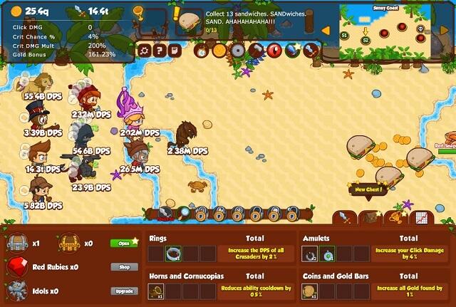 Crusaders of Lost Idols - Clicker Game