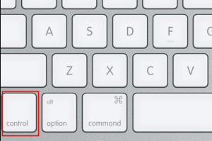 Mac right click control clicking