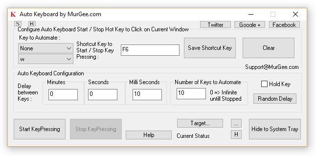 Auto key clicker